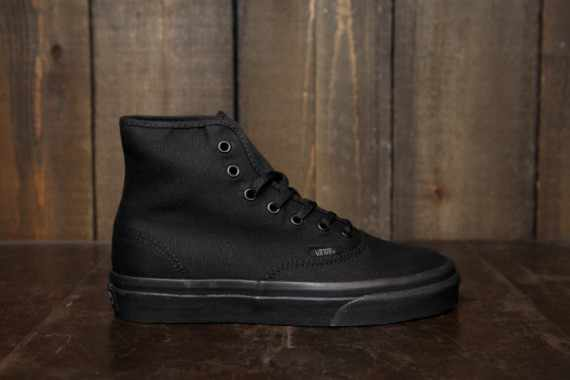 vans authentic hi women spring 2013 blackout